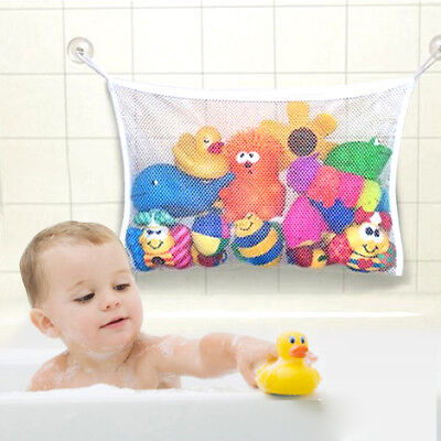 Large Kids Baby Bath Toy Tidy Organiser Mesh Net Storage Bag Holder Bathroom UK • 4.49£