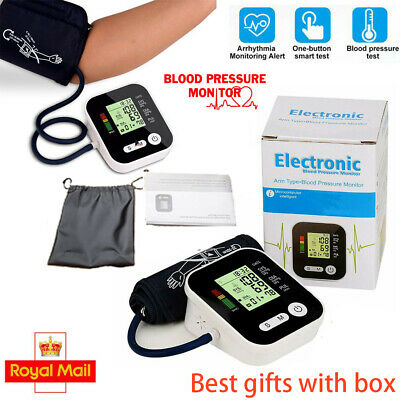 Automatic Blood Pressure Monitor Upper Arm Digital BP Machine With Large Cuff UK • 14.99£
