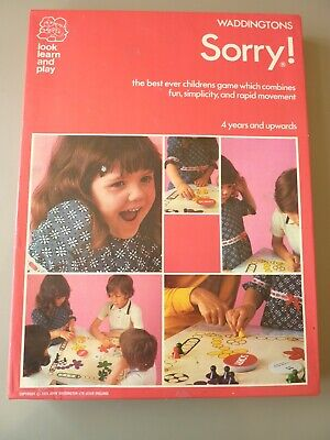 Vintage Waddingtons Sorry The Childrens Board Game 100% Complete • 14.95£