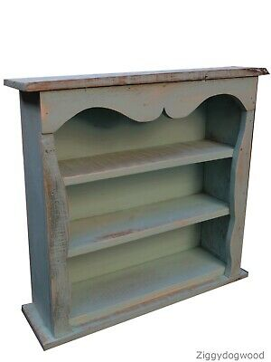 Shabby Chic Wall Cabinet Reclaimed Pine Timber Light Grey • 49.95£