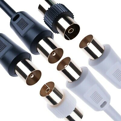 0.5M – 20M RF Coaxial TV Aerial Cable Coupler Television Extension Arial Lead • 3.79£