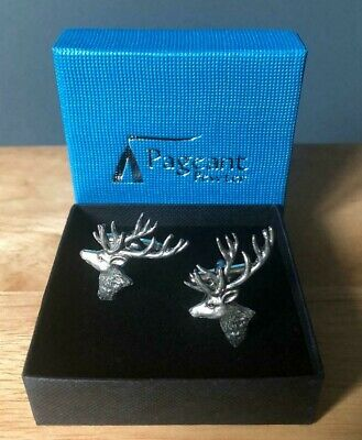 Stag Head Pewter Cufflinks In Presentation Gift Box New  • 11.99£