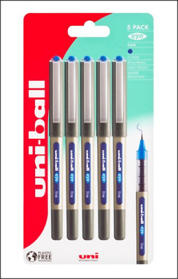 Uni-Ball 5 Pack Fine Eye Pens. 0.7 Mm. Blue Ink. Fade Proof/Water Resistant. • 6.50£