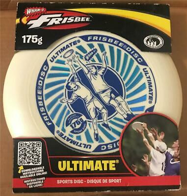 Wham-O Ultimate Frisbee 175g Blu & White Sports Disc New In Package • 11.20£