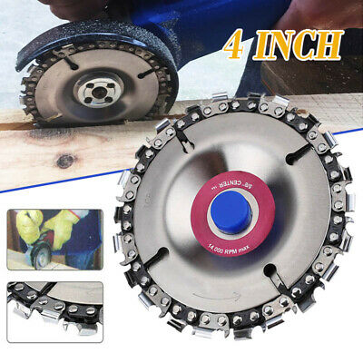 4'' Angle Grinder Disc 22 Tooth Chain Saw Blade For Wood Carving Cutting Tool UK • 5.99£