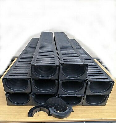 £96.99 • Buy DRAINAGE CHANNEL DRIVEWAY & PATIOS 10mtr Plastic Grating Inc FREE ACCESSORIES