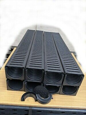 £78.99 • Buy DRAINAGE CHANNEL DRIVEWAY & PATIOS 8mtr Plastic Grating Inc FREE ACCESSORIES