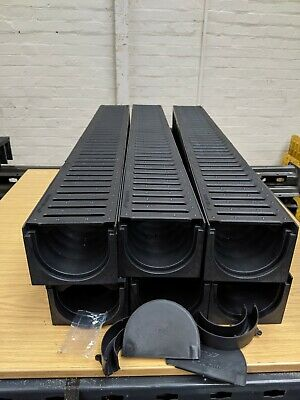£59.99 • Buy DRAINAGE CHANNEL DRIVEWAY & PATIOS 6mtr Plastic Grating Inc FREE ACCESSORIES