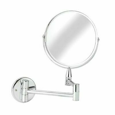 £10.99 • Buy Chrome Wall Mounted Shaving Mirror Vanity Magnifying Wall Mounted Round Make Up
