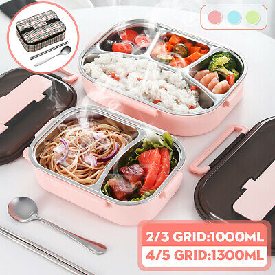 AU29.99 • Buy AU Stainless 2-5 Grid Thermal Insulated Lunch Box Bento Food Container Women