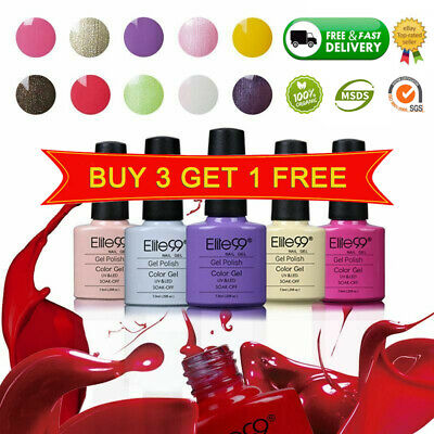 Elite99 UV LED Nail Gel Polish Soak Off Varnish Base Top Colour Coat Set Lacquer • 3.29£