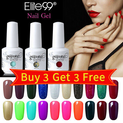 Elite99 15ML UV LED Colour Gel Polish Lacquer Nail Art Top Base Coat Set Varnish • 5.59£