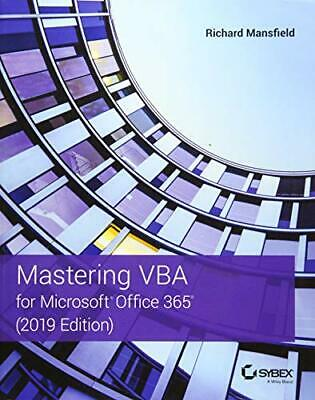 AU52.87 • Buy Mastering VBA For Microsoft Office 365, Mansfield 9781119579335 Free Shipping..