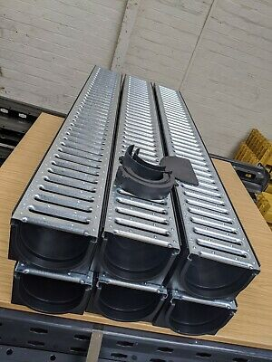 £62 • Buy DRAINAGE CHANNEL DRIVEWAY & PATIOS 6mtr Galv Grating Inc FREE ACCESSORIES