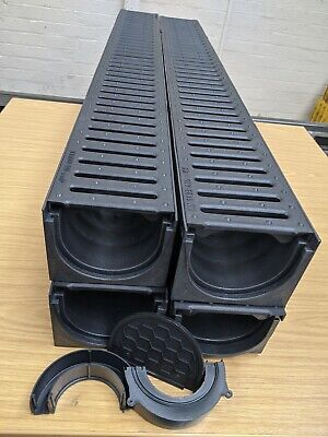 £39.99 • Buy DRAINAGE CHANNEL DRIVEWAY & PATIOS 4mtr Plastic Grating Inc FREE ACCESSORIES