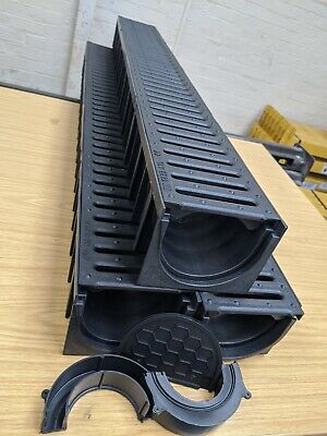 £30.99 • Buy DRAINAGE CHANNEL DRIVEWAY & PATIOS 3mtr Plastic Grating Inc FREE ACCESSORIES