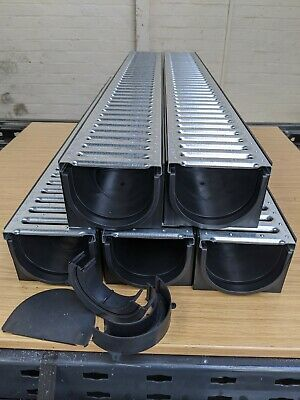 £53 • Buy DRAINAGE CHANNEL DRIVEWAY & PATIOS 5mtr Galv Grating Inc FREE ACCESSORIES