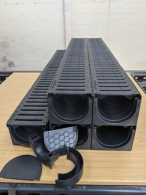 £49.99 • Buy DRAINAGE CHANNEL DRIVEWAY & PATIOS 5mtr Plastic Grating Inc FREE ACCESSORIES