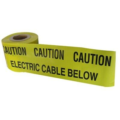 Electric Utility Cable Marker Tape Underground Power Services Dig Danger Ducting • 4£