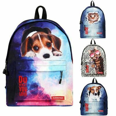 Animal Dog Backpack Outdoor Travel Street Hip Hop Teenager Laptop Zip School Bag • 13.99£