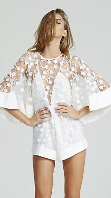 AU149.99 • Buy Alice McCall Gypsy Eyes Playsuit White Size 8 RRP$360
