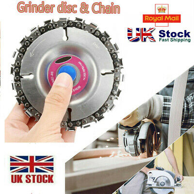 22 Tooth Angle Grinder Disc Chain Saw 4'' Blade Woodcarving Plastic Cutting Tool • 8.89£