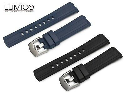 For 20mm 22mm OMEGA SeaMaster Diver 300m Rubber Strap Watch Band Buckle • 29.45£