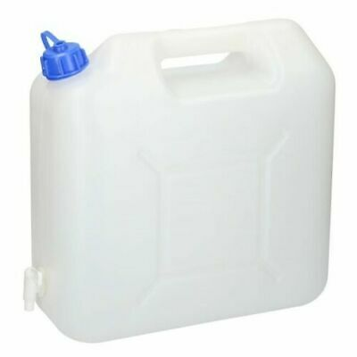 15 Litre Water Carrier Jerry Can Container Food Grade Plastic With Tap • 10.45£
