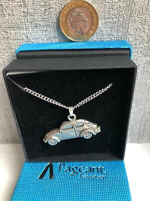 Vw Beetle Car Pewter Pendant Necklace - Made In Uk - New - Gift • 5.99£
