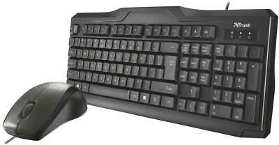 Trust Classicline Wired Keyboard & Mouse Desktop Set Comfortable & Quiet Typing • 14.49£