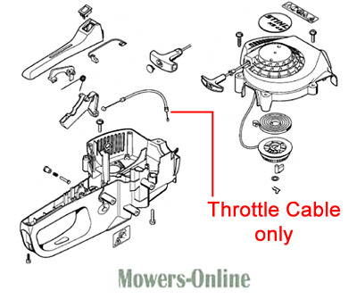 £22.69 • Buy Genuine Stihl HS45 Hedgetrimmer Throttle Cable 4228 180 1101