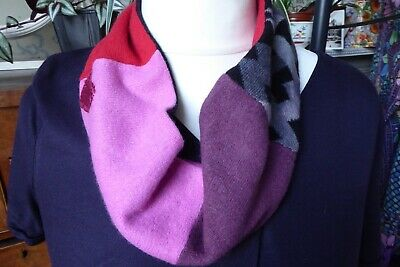 100% Pure Upcycled Cashmere Handmade Neck Warmer Scarf  • 12£