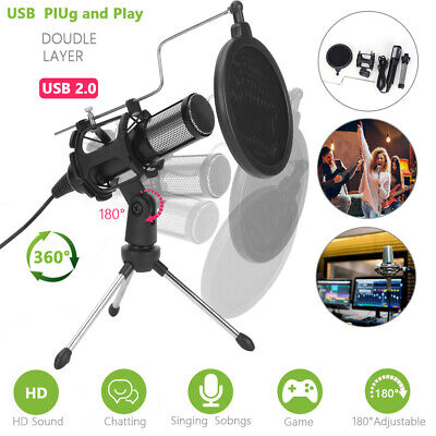 AU27.99 • Buy Condenser USB Microphone For Computer , YouTube, Skype And Gaming Studio E0S5