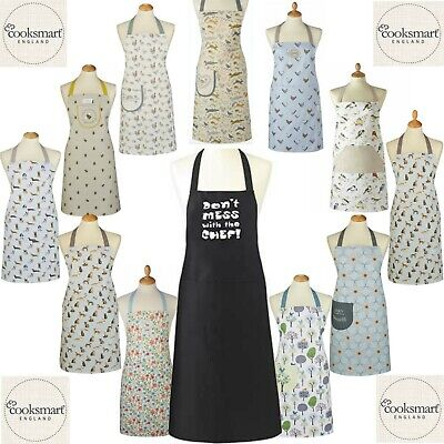 £4.99 • Buy Cooksmart Cotton Apron With Pocket Chef Cooking Baking Kitchen Pinny Aprons