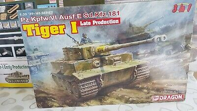 Dragon 6406 1:35 Tiger I Late Production Heavy Tank Model Kit *SEALED IN BAGS* • 55£