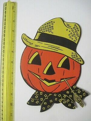 $ CDN12.96 • Buy VINTAGE HALLOWEEN JACK-O-LANTERN SCARECROW DECORATION H. E. Luhrs