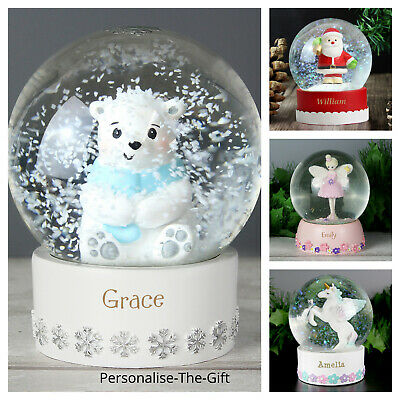Personalised Any Name Snow Globe Christmas Xmas Gift For Baby Children Boy Girl • 16.99£