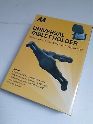 AA HEADREST TABLET Holder Car Mount 7  Up To 10.5  Universal Samsung Ipad HP NEW • 9.95£