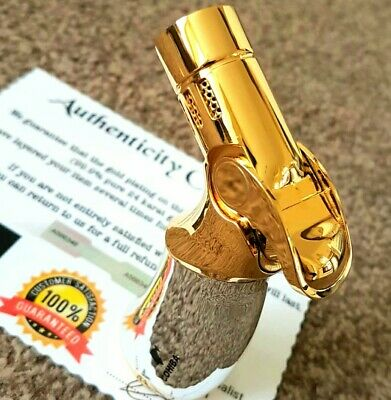 24k Gold Plated Metal Jobon Lighter Quad Flame 4 Jet Turbo Cigar Punch Gas 24ct • 64.99£