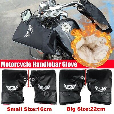 Big/Small Waterproof Winter Motorcycle Scooter Handlebar Muffs Gloves Hand Cover • 10.80£