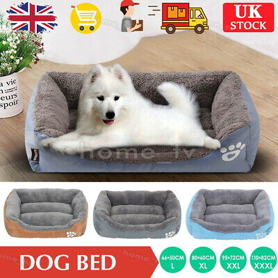 Large Dog Beds Pet Cushion House Soft Warm Kennel Blanket Nest Washable • 16.99£