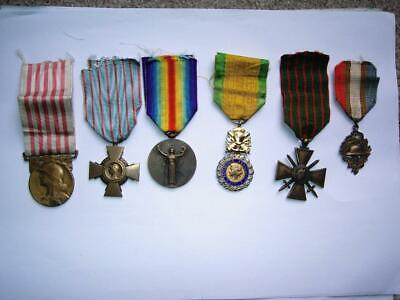 WWI French Medal Military Group Victory Cross Croix De Guerre Militaire 1914 No3 • 99.99£