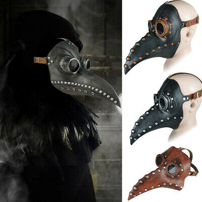 Christmas Mask Costume Props Plague Doctor Bird Long Nose Beak Cosplay Steampunk • 7.99£