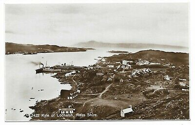 POSTCARDS-SCOTLAND-WESTER ROSS-KYLE OF LOCHALSH-RP. Steamers At Cable Nook Pier. • 6£