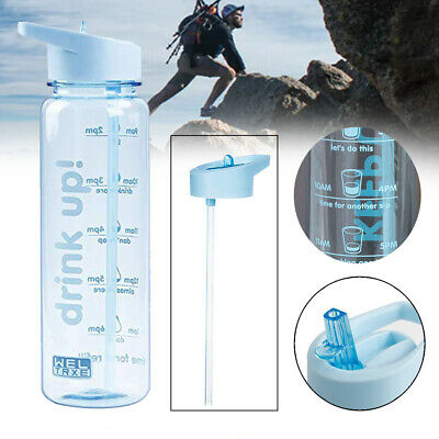 AU14.95 • Buy Drinking Large Capacity Non Toxic Water Bottle Outdoor Sports W/ Time Tracker
