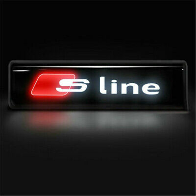 Front Grille Badge Led Illuminated Logo Emblem S Line For Audi S3 S4 S5 S6 S7 • 9.99£