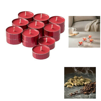 Tealight Candles Scented Cinnamon Red Pack Of 18 Medge Ikea • 6.99£
