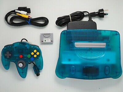 AU319 • Buy Ice Blue Nintendo 64 Console PAL + Controller N64 COMPLETE & GOOD CONDITION