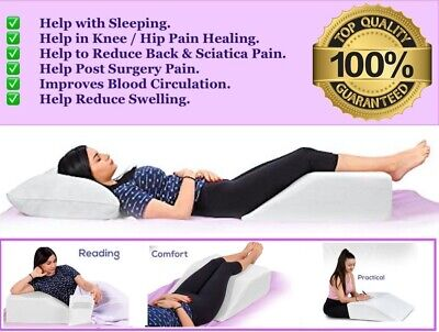 £19.99 • Buy Elevating Leg Wedge Pillow For Back Hip Knee Pain & Maternity Pregnancy Support