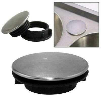 Stainless Steel Kitchen Sink Tap Hole Blanking Plug Plate Stopper Cover `uk • 4.93£